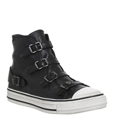 Ash Virgin High Top Trainers BLACK NAPPA WAX