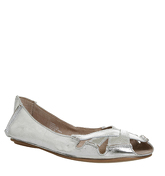 Office Faint Peep Toe Shoe SILVER LEATHER