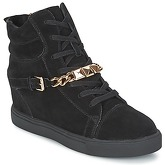 Elle  LOUVRES  women's Shoes (High-top Trainers) in Black