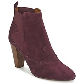 Heyraud  DAISY  women's Low Ankle Boots in Red