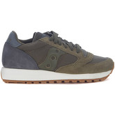 Saucony  Jazz in grey anthracite and dark green suede and fabric sneaker  women's Shoes (Trainers) in Green