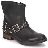 Pieces  ISADORA LEATHER BOOT  women's Mid Boots in Black