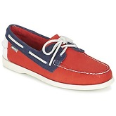 Sebago  SPINNAKER  men's Boat Shoes in Orange