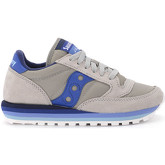 Saucony  Jazz O' Rainbow sneaker in grey and bluette suede and nylon  women's Shoes (Trainers) in Grey
