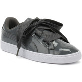 Puma  Womens Iron Gate Grey Basket Heart Patent Trainers  women's Shoes (Trainers) in multicolour