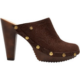 Cuplé  High heel leather mules  women's Clogs (Shoes) in Brown
