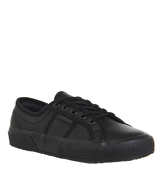 Superga 2750 BLACK MONO LEATHER