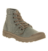 Palladium Pallabrouse (m) DARK KHAKI CANVAS