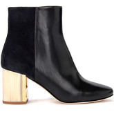 Tory Burch  Trie Burch Gigi model ankle boots in black leather and suede  women's Low Ankle Boots in Black