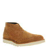 Ask the Missus Demister Brogue Chukka RUST SUEDE