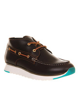Ask the Missus Austin Chukka BROWN LEATHER GREEN POP