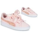 Puma  BASKET HEART CANVAS W'S  women's Shoes (Trainers) in Pink