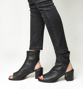 Office Automatic Stretch Cut Out Boots BLACK