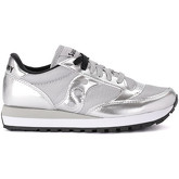 Saucony  Jazz silver metalleather and fabric sneaker  men's Shoes (Trainers) in Silver