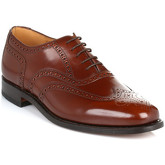 Loake  Mens Brown 202T Brogue Leather Shoes  men's Smart / Formal Shoes in Brown