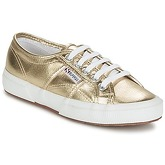 Superga  2750 CLASSIC METAL  men's Shoes (Trainers) in Gold