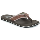 Reef  TWINPIN FRAY  men's Flip flops / Sandals (Shoes) in Brown