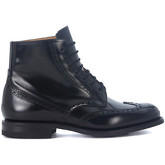 Church's  Renwick black brushed leather ankle boots  men's Mid Boots in Black