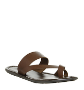 Office Franklyn Toepost Sandal TAN LEATHER