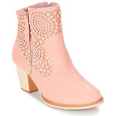 Moony Mood  DIROVAL  women's Low Ankle Boots in Pink