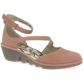 Fly London  Plan Womens Casual Wedge Heel Sandals  women's Sandals in Pink