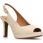 Clarks  Mayra Blossom Womens Slingback Shoes  women's Court Shoes in Beige
