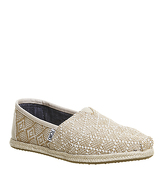 Toms Seasonal Classic Slip On NATURAL WOVEN