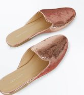 Pink Sequin Mules New Look