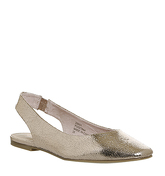 Office Fortune Teller Slingback Flats ROSE GOLD