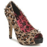 Abbey Dawn  PLATFORM PEEPTOE  women's Court Shoes in Brown