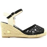 Laura Biagiotti  857 Wedge sandals Women Black  women's Sandals in Black