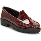 Tower  Womens Burgundy Patent Leather Loafers  women's Loafers / Casual Shoes in multicolour