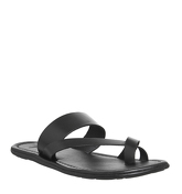 Office Franklyn Toepost Sandal BLACK LEATHER