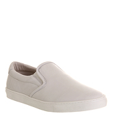 Ask the Missus Bernard Slip On OFF WHITE LEATHER WHITE SOLE