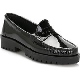 Tower  Womens Black Patent Leather Loafers  women's Loafers / Casual Shoes in multicolour