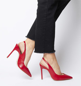 Office Honeypie Low Topline Slingback Court RED LEATHER