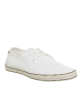 Original Penguin Epic Lace Up WHITE MESH CANVAS