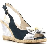 Laura Biagiotti  816 Wedge sandals Women Navy  women's Sandals in Blue