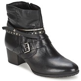 Dream in Green  KAMIL  women's Low Ankle Boots in Black