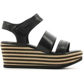 Carmens Padova  A37277 Wedge sandals Women Black  women's Sandals in Black
