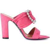 Via Roma 15  fuxia suede sandal with crystals  women's Sandals in Pink