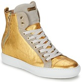 Barracuda  AZO  women's Shoes (High-top Trainers) in Gold