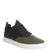 Ask the Missus Galactic Sneaker KHAKI SUEDE BLACK LEATHER