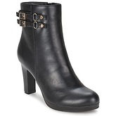 Moony Mood  BEATE  women's Low Ankle Boots in Black