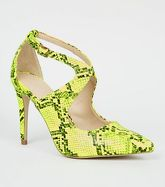 Yellow Neon Faux Snake Courts New Look
