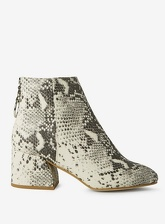 Womens Wide Fit Multi Coloured Snake Print 'Adore' Ankle Boots- Animal, Animal