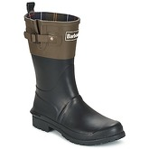 Barbour  SHORT COLOUR BLOCK WELLY  women's Wellington Boots in Black
