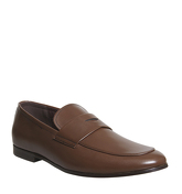 Ask the Missus Gold Penny Loafer CHOC LEATHER