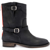 Via Roma 15  Brooklyn black greasy leather ankle boots  women's Low Boots in Black
