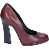 Fabi  courts burgundy leather AK784  women's Court Shoes in Red